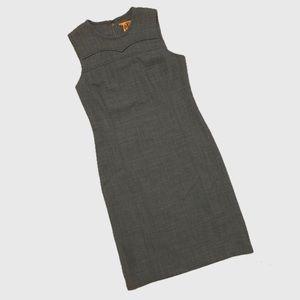 Tory Burch Grey Sleeveless Sheath Dress sz 10